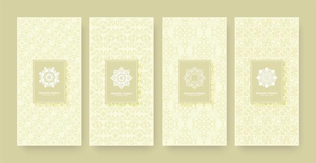 Elegante banner ornamento pattern design