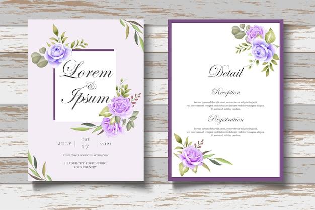 Biglietto d'invito per matrimonio floreale elegante e bello