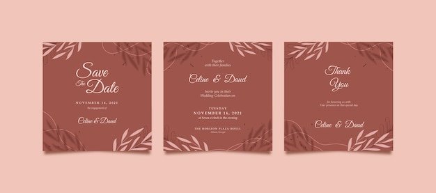 Elegante e bellissimo post instagram per matrimonio