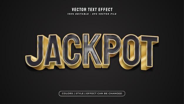 Elegante stile di testo nero e oro con texture plastica realistica