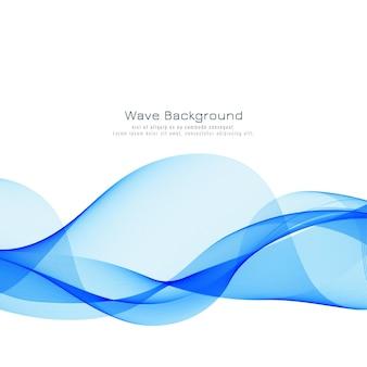 Fondo moderno dell'onda blu elegante
