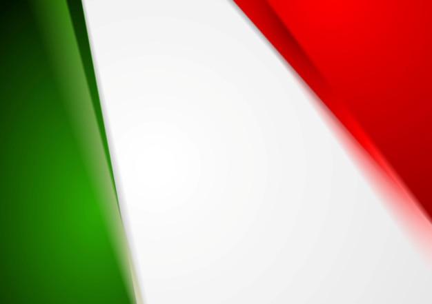 Elegante sfondo astratto luminoso. colori italiani. disegno vettoriale