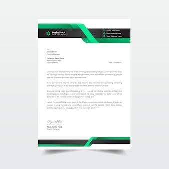 Elegante carta intestata aziendale e modello di fattura professionale
