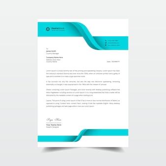 Elegante modello di design professionale per carta intestata aziendale