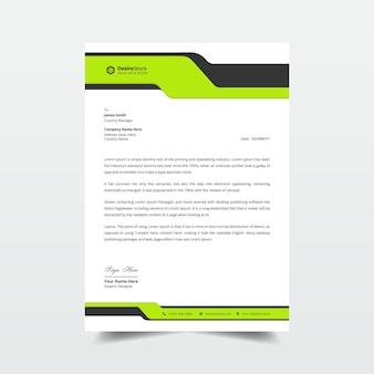 Design elegante del modello professionale di carta intestata aziendale