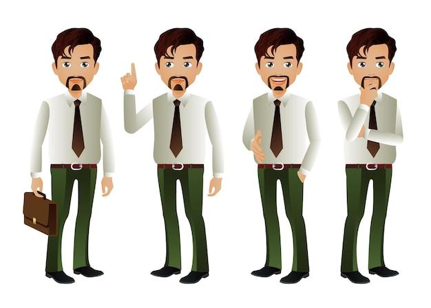 Set di eleganti uomini d'affari