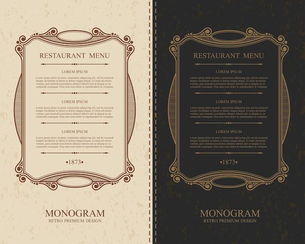Ristorante con menu calligrafico elegante.