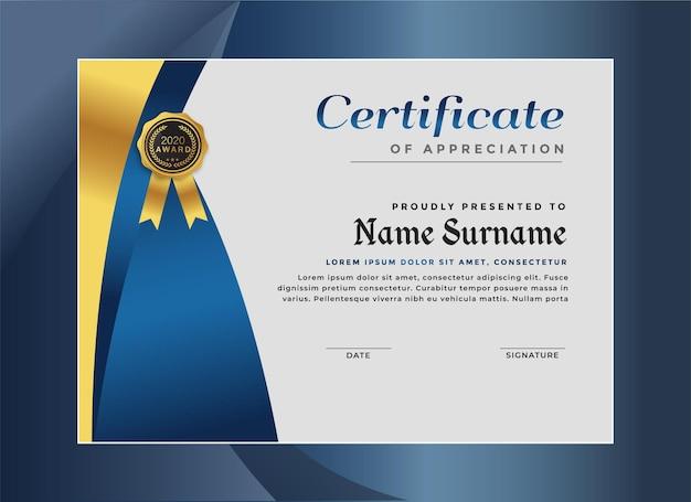 Elegante modello di certificato di realizzazione