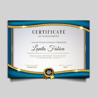 Elegante modello di conseguimento del certificato
