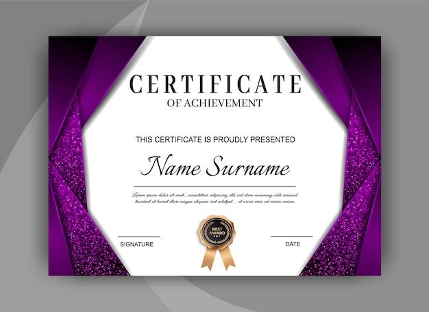 Elegante modello di certificato. design moderno del diploma