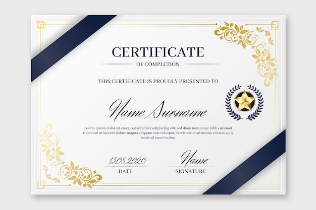 Modello di certificato elegante