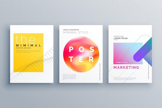 La pagina di copertina creativa minima o il modello di progettazione del flyer brochure