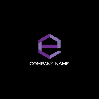Elegante concept design del logo con lettera geometrica stilizzata e