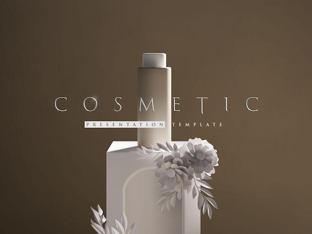 Elegante modello di presentazione del prodotto cosmetico