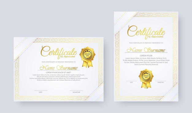 Diploma elegante in design in stile vintage