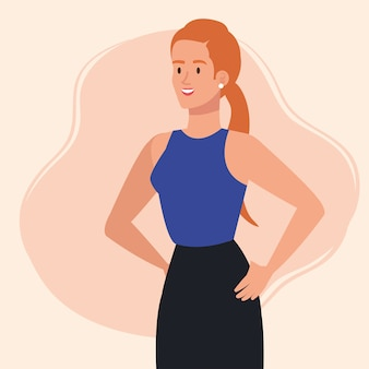 Elegante esecutivo imprenditrice avatar personaggio illustrazione design