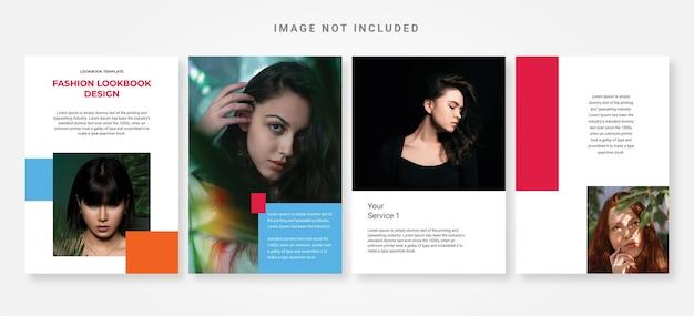 Elegante modello di design per lookbook di moda
