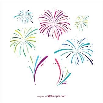 Fuochi d'artificio disegno vettoriale libero