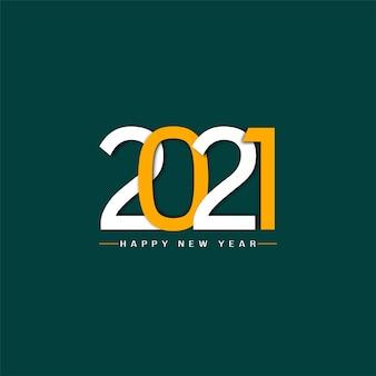 Elegante colore piatto felice anno nuovo 2021