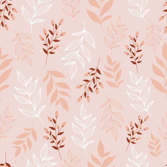 Elegante motivo floreale senza soluzione di continuità in colore rosa pastello.
