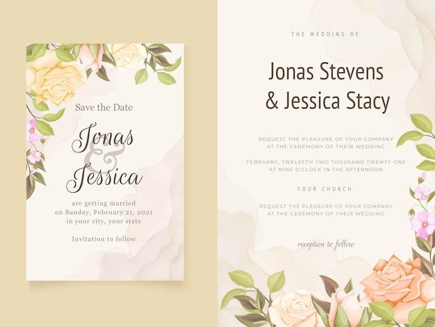 Modelli di carta di invito matrimonio floreale elegante