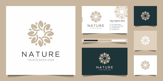 Estratto di progettazione di logo del fiore elegante.