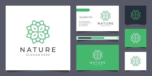 Linea arte design elegante logo fiore.