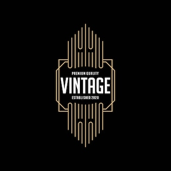 Modello di progettazione di logo vintage telaio elegante
