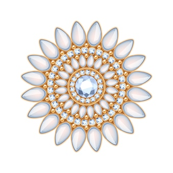 Elegante decorazione di gioielli con pietre preziose. scenetta floreale etnica. buono per il logo della gioielleria di moda.