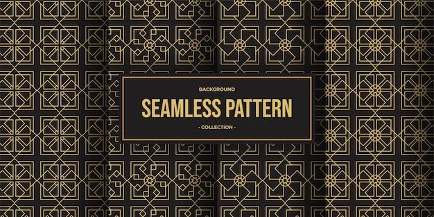 Elegante linea geometrica seamless pattern sfondo collezione