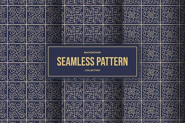 Collezione seamless pattern elegante linea geometrica
