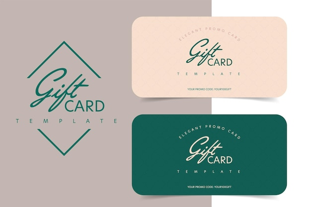Elegante modello di carta regalo con codice promozionale per lo shopping.