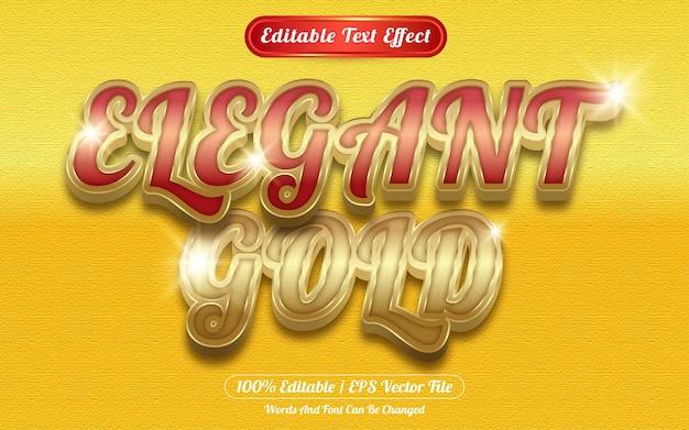 Elegante stile del modello di effetto di testo modificabile in oro