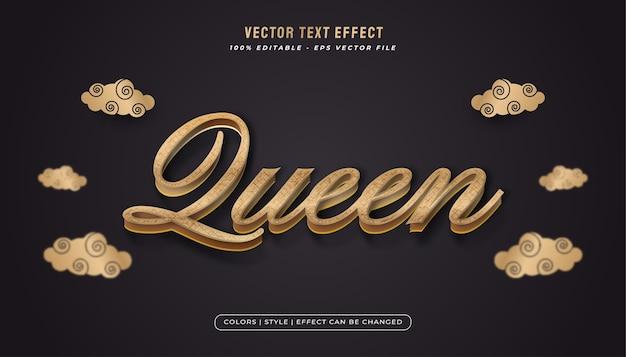 Elegante stile di testo dorato con effetto testurizzato