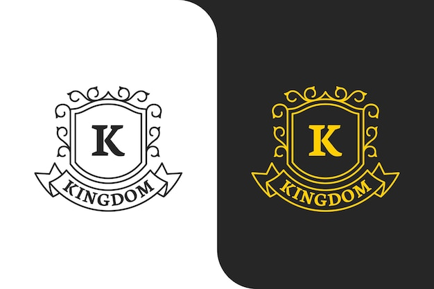 Elegante golden letter k logo illustration