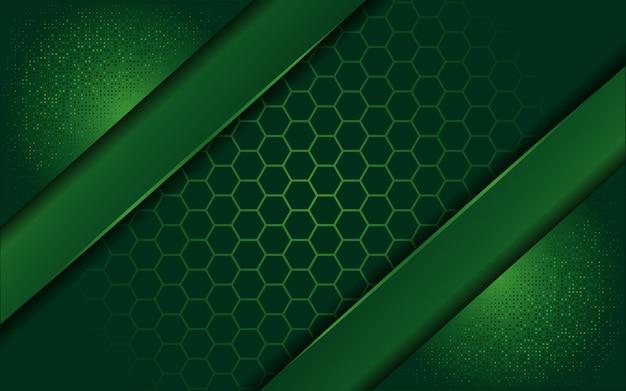 Elegante sfondo verde con strato di sovrapposizione