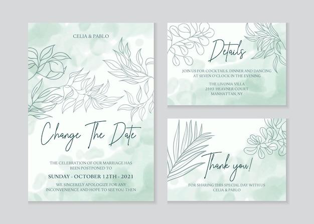Elegante disegno a mano disegno floreale invito a nozze