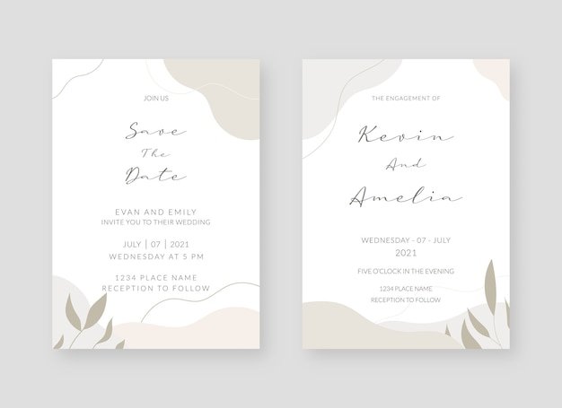 Elegante collezione di carte di invito