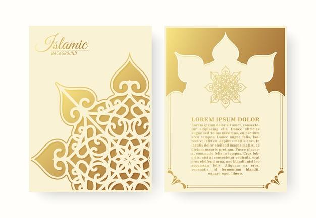 Elegante copertina islamica con il concetto di mandala