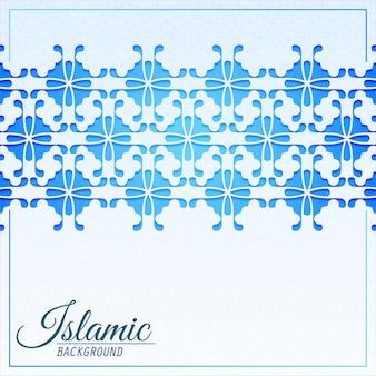 Elegante sfondo modello ornamento islamico