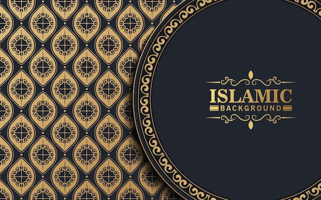 Elegante sfondo scuro in stile islamico