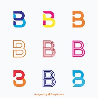 Elegante collezione di logo lettera b