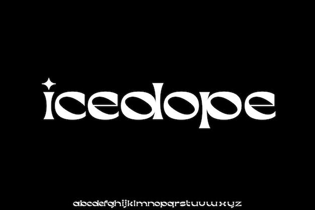 Elegante carattere minuscolo lusso e alfabeto unico