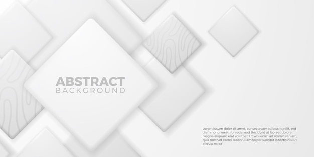 Forma quadrata del cubo geometrico 3d creativo di lusso elegante su fondo bianco
