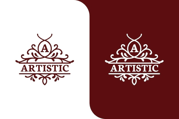 Elegante lusso lettera un modello di logo illustrazione
