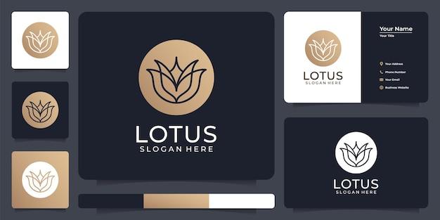 Elementi di logo simbolo di loto di lusso elegante