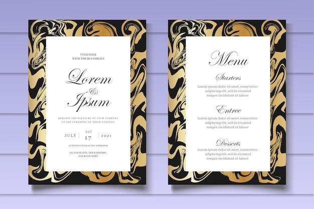 Elegante modello di invito a nozze in marmo