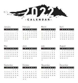 Elegante calendario minimal