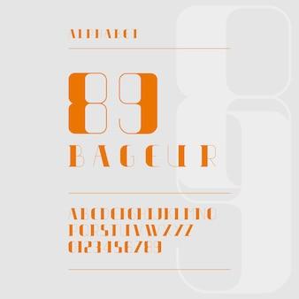 Elegante minimalis lettera dell'alfabeto moderno o font tipografia casual font logo font vettore premium