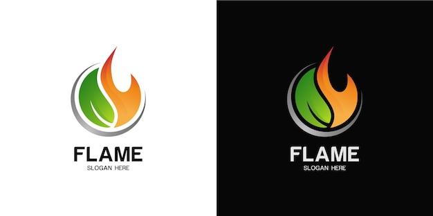 Elegante set di logo del fuoco minimalista